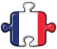 French button flag puzzle Royalty Free Stock Photography