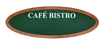 French cafe bistro sign board Royalty Free Stock Photos