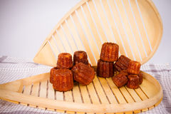 French Cake canneles. Cakes canneles, specialties of Bordeaux, France royalty free stock photo