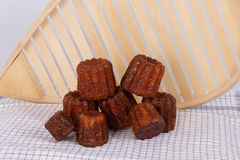 French Cake canneles f. Rom Bordeaux royalty free stock photos