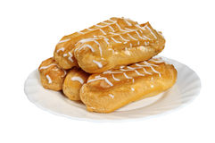 French cake (eclair) Royalty Free Stock Images