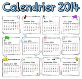 French calendar 2014 Stock Images