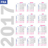 French calendar 2017 Stock Photography