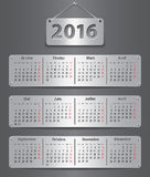 2016 French calendar Stock Images