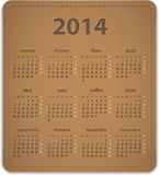 2014 French calendar Royalty Free Stock Photo