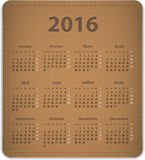 2016 French calendar Stock Photo