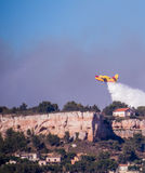 French Canadair of civil security Stock Photo