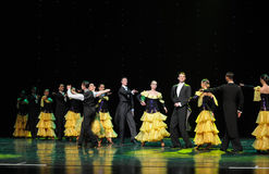 The French Cancan-the Austria's world Dance Royalty Free Stock Photography