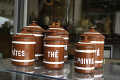 French canisters Stock Photos