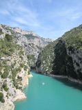French canyon. Blue river in French canyon Gorges du Verdon Stock Image