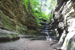 French Canyon at Starved Rock Royalty Free Stock Photography