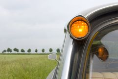 French Car in Dutch Landscape royalty free stock photo
