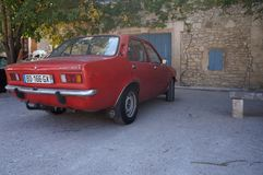 French car in small village royalty free stock images