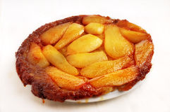 French caramelized pear tart Royalty Free Stock Photo