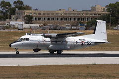 French cargo military turboprop aircraft Stock Photography