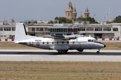 French cargo military turboprop aircraft Stock Image