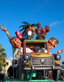 French carnival of Nice stock images