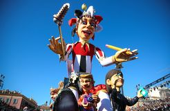 French carnival of Nice royalty free stock images