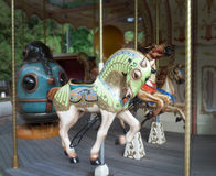 French carousel. With horses and submarine Royalty Free Stock Photos