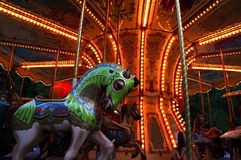 French carousel. French carousel in the park royalty free stock photography