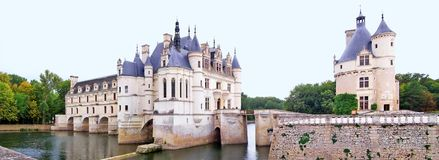 French Castle 01. Beautiful french castle built over water royalty free stock images