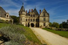 Entrance of a french castle Royalty Free Stock Photos