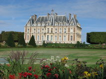 French castle on beautiful grounds. Stock Image