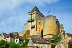 French castle Castelnaud Royalty Free Stock Photo