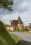 French Castle Cottage Stock Photo