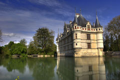 French castle with fluke Royalty Free Stock Images