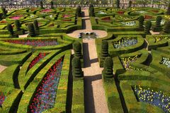 French castle garden stock images