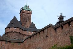 French castle Haute Koenigsbourg in Alsace Stock Photo