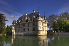 French castle with water reflect Stock Photography