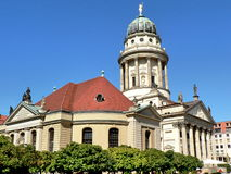 French Cathedral, Berlin. Famous French Cathedral in Berlin, Germany. Popular tourist attraction as well as a historic French church stock image