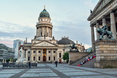 French Cathedral in Berlin in the evening stock photo