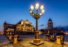 French Cathedral and Concert Hall on Gendarmenmarkt Square in Be Stock Image