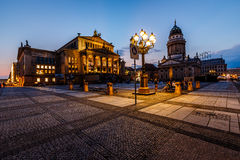 French Cathedral and Concert Hall on Gendarmenmarkt Square in Be Stock Images