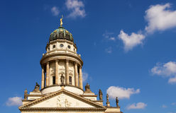 French Cathedral domme, Gendarmenmarkt. The French Cathedral domme detail, Gendarmenmarkt square, Berlin Stock Photography