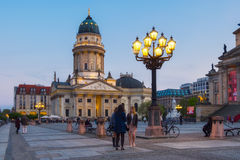 French Cathedral on Gendarmenmarkt in Berlin Royalty Free Stock Photos
