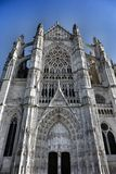 French Cathedral. Gothic style cathedral in North France royalty free stock image