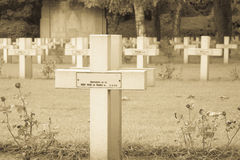 French cemetery from the First World War in Flanders belgium. Stock Images
