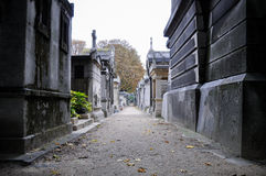 French cemetery in montmartre Stock Photos