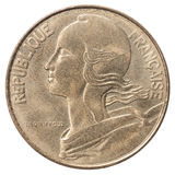 French centimes coin Stock Image