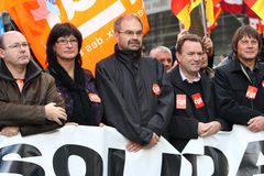 French CFDT trade union leader Francois Chereque Stock Photos