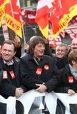 French CGT trade union leader Bernard Thibault Stock Photos