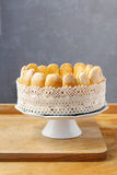 French charlotte cake with blueberries Stock Photo