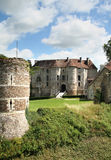 French Chateau. A Chateau in Normandy France, viewed from its ancient Fortifications Royalty Free Stock Photos