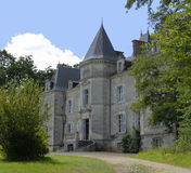 French Chateau. Frontage in western france royalty free stock photography