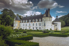 French Chateau of Bussy Rabutin in Burgundy stock image