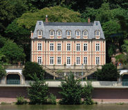 French Chateau D. This French style chateau can be found on the banks of a German river Royalty Free Stock Image